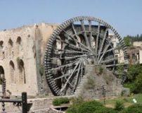چرخ های آبی قدیمی در شهر باستانی حما