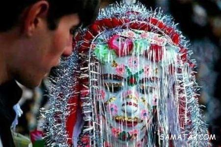 نقاشی صورت و بدن عروس در بلغارستان