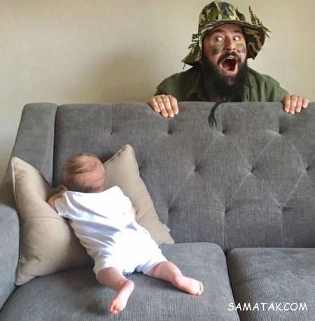 عکس پدر و دختر کوچولو