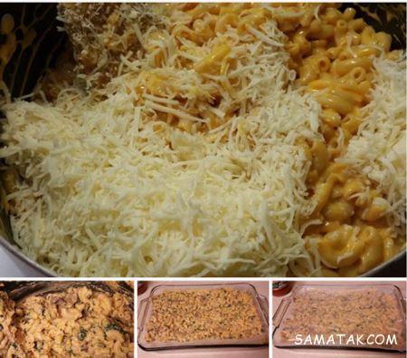 طرز تهیه لقمههای ماکارونی با پنیر پیتزا