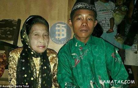 شب زفاف پسر 16 ساله با پیرزن 70 ساله + تصاویر