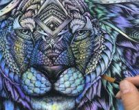 نقاشی حیوانات اهلی و وحشی