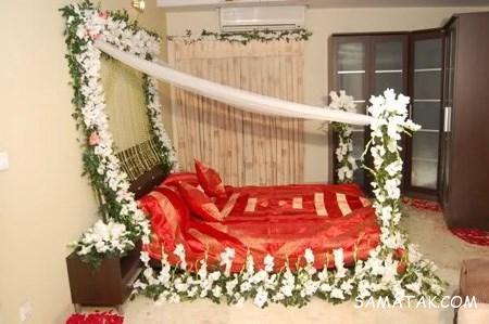 تزیین اتاق عروس با تور | تزیین حجله عروس با تور