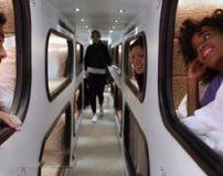 اتوبوس مجهز به تخت خواب برای مسافران + تصاویر