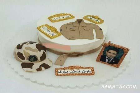 انواع مدل های تزیین کیک جشن پایان خدمت سربازی