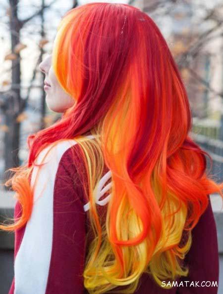 رنگ موی قرمز آتشین | انواع مدل های رنگ موی آتشی