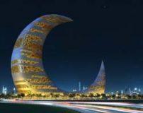 تصاویر برج هلال ماه دبی زیباترین برج هلالی جهان