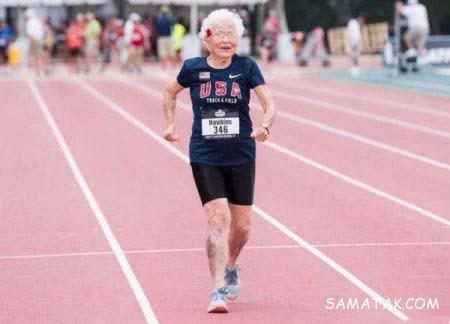 پیرترین دونده جهان این پیرزن 101 ساله است + تصاویر