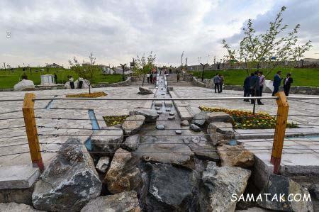 دریاچه مصنوعی بوستان چهل بازه مشهد + تصاویر