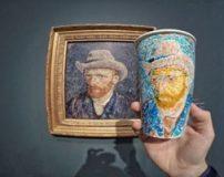 نقاشی های مکان های تاریخی روی لیوان کاغذی