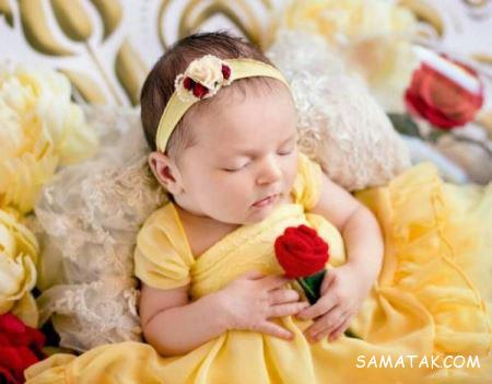 فیگورهای بسیار زیبا از نوزادان ناز 6 قلو