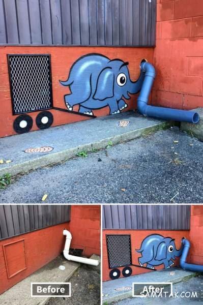 نقاشی های جالب خیابانی روی اماکن قدیمی