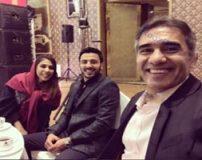 نگار عابدزاده با تیپ و مدل مو زیبا در کنار همسر و پدرش