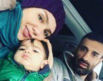 عکس های عادل غلامی و همسرش و فرزندش