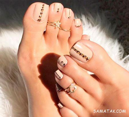 انواع مدل طراحی لاک ناخن پا