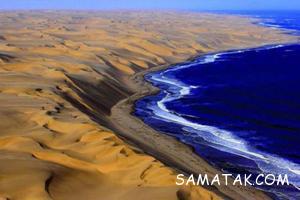 زیباترین مرز بین دریا و بیابان نامیب