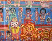 نقاشی های رنگارنگ بر روی دیوارهای روستایی در تایوان