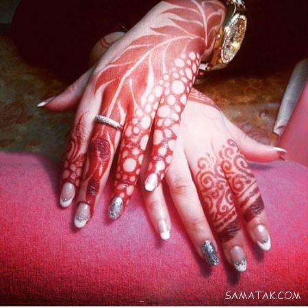مدل های طراحی روی بدن و دست با حنا