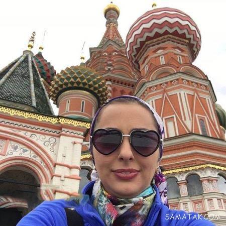عکس های بی حجاب نفیسه روشن در مسکو