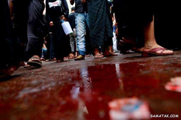تصاویر وحشتناک از قمه زنی مسلمانان در روز عاشورا