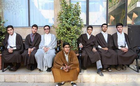 آیین سنتی عمامه گذاری طلاب در حوزه + تصاویر