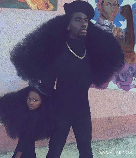 مدل موهای جذاب پدر و دختر سیاه پوست