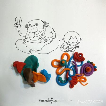 تصاویر نقاشی های خنده دار ترکیبی