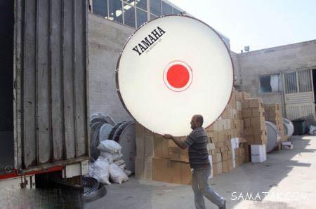 تصاویری از کارخانه طبل سازی بسیار بزرگ