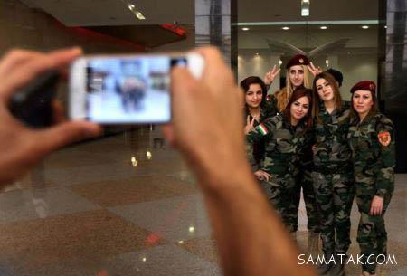 عکسهای لو رفته از پادگان دختران پیشمرگه کُرد