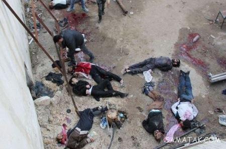 برهنه کردن و آتش زدن مردم سوریه توسط داعش (تصاویر 18+)