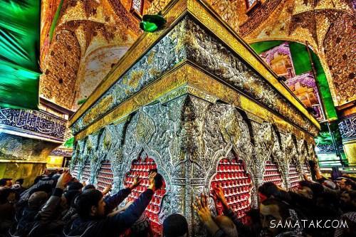 تصاویر داخل حرم و ضریح امام حسین در کربلا HD