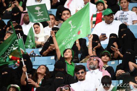 عکس های زنان و دختران عرب در استادیوم فوتبال