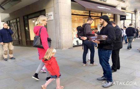 تصاویر عزاداری زنان و دختران بی حجاب در لندن