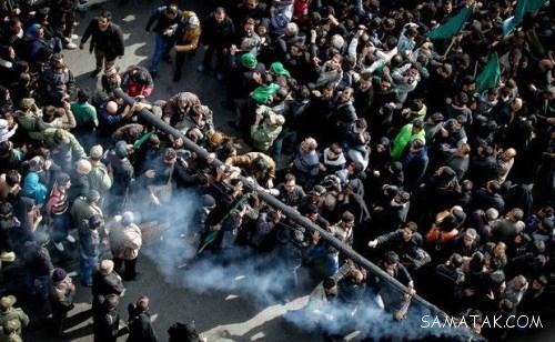 آتش زدن خیمه های امام حسین در اصفهان (عکس)