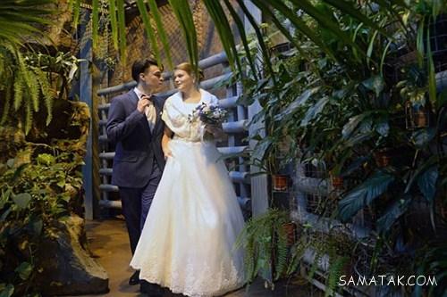 شب زفاف عروس و داماد روسی در باغ وحش مسکو + تصاویر