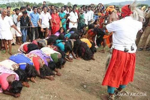 تصاویر کتک زدن زنان و تنبیه بدنی دختران هندی