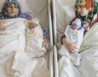باردار شدن همزمان مادر و دختر و زایمان در یک روز + تصاویر