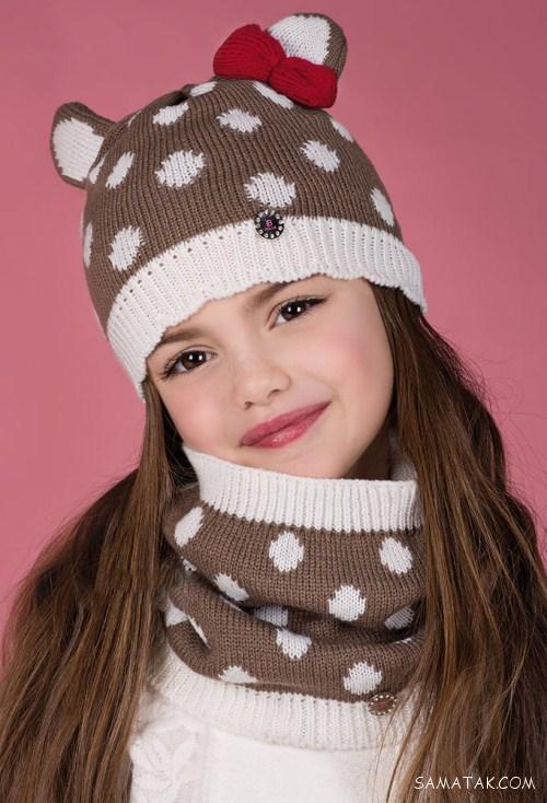 عکس جدیدترین ست های شال و کلاه بافتنی دخترانه 2018