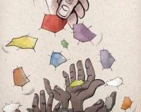 کاریکاتورهای جدید و مفهومی فقر و ریشه کنی فقر