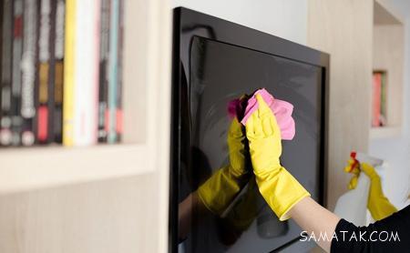 آموزش تصویری و اصول تمیز کردن تلویزیون و سینما خانگی