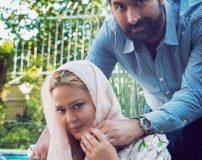 عکس جدید بهاره رهنما با اندام لاغر در حیاط خانه