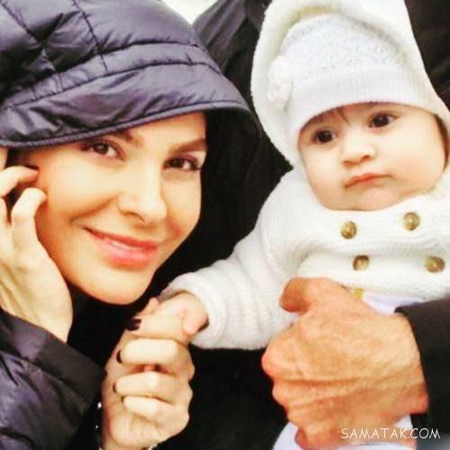 عکس های بیتا اصلانی همسر دوم هومن سیدی و دخترش نیل