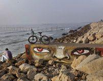 دیوارنگاری های زیبا در ساحل بندرعباس