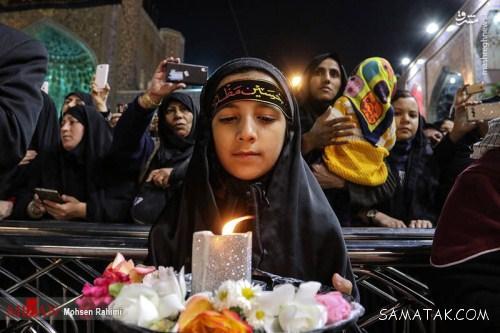 عکس هایی از شام غریبان شهادت امام رضا در حرم مطهر رضوی