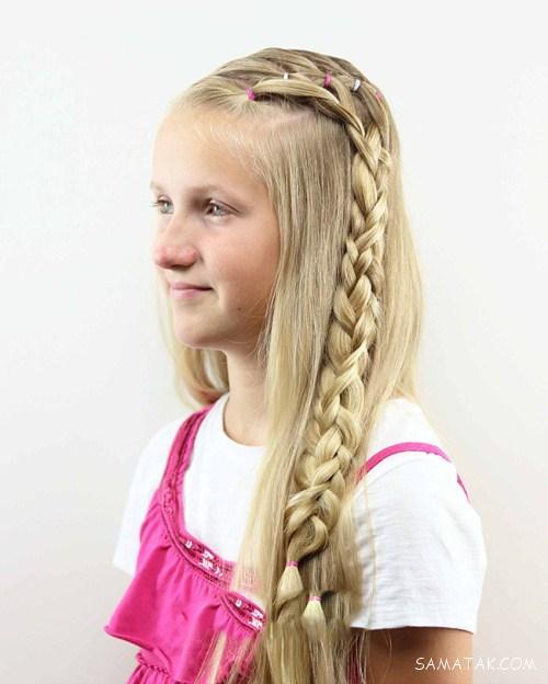 عکس بافت موی دخترانه زیبا شیک و جدید