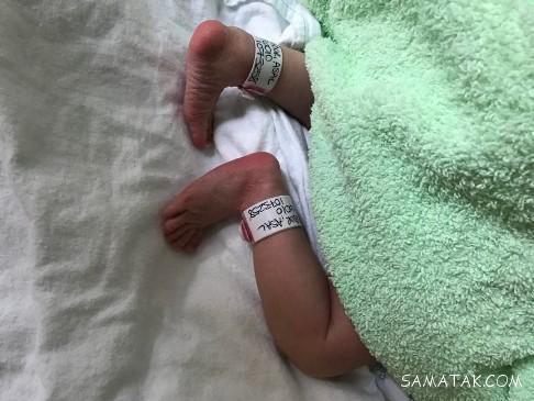عکس به دنیا آمدن برکه دختر سام درخشانی