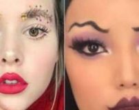 زشت ترین مدل های آرایش صورت و ابرو