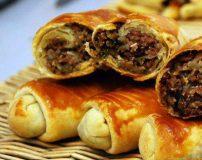طرز تهیه بورک گوشت با خمیر یوفکا در فر