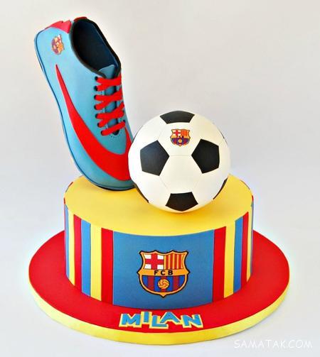 مجموعه عکس مدل های کیک تولد پسرانه فوتبالی