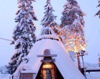 عکس های زیبای هوای برفی عاشقانه در شب کریسمس
